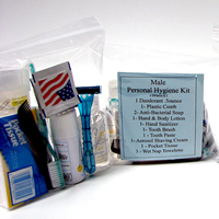 14 Piece Personal Hygiene Kit (Male)