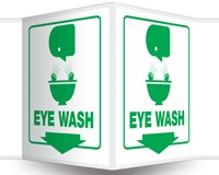 "3D Eye Wash Sign 6"" x 5"" Panel"
