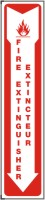 "Fire Extinguisher Sticker Sign 18"" x 4"" Adhesive Dura Vinyl"