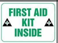 FIRST AID KIT INSIDE Sticker (W/GRAPHIC)