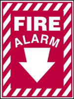 Plastic, Fire Alarm Sign