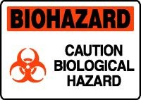 Plastic, Biohazard Caution Biologizal Hazard