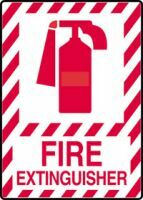 Plastic, Fire Extinguisher Sign