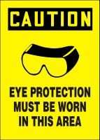 Plastic, Eye Protection Must Be Worn in this Area