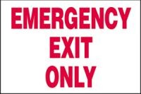 Emergency Exit Only 3 D projection sign