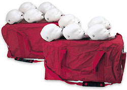 Baby Buddy™ CPR Manikin 10-Pack  Consists of 5 infant manikins, 100 lung/mouth protection bags, 2 carrying bags, and 2 instruction manuals.