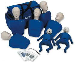 5 Adult and 2 Infant Manikin Pack comes w/ 50 Adult/Child and 20 Infant Cpr Faceshiled Lung Bags and insertion tool