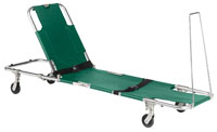 Easy-Fold Wheeled Stretcher with Adjustable Back Rest