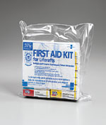15 Unit USCG Approved Liferaft Marine First Aid Kit, waterproof bag