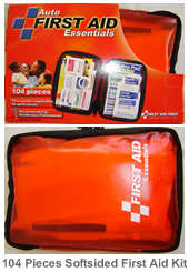 Auto First Aid kit, 104 piece