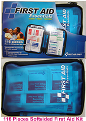 116 pieces softsided first aid kit