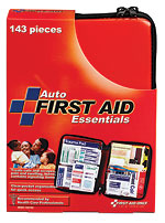 143 Piece Large, Auto Softsided First Aid Kit - 1 each