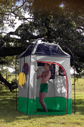 Deluxe Camp Shower/Shelter Combo