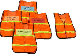Safety Vests – Orange Incident Command System