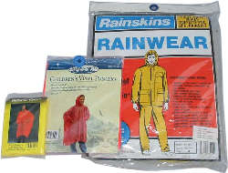 Emergency Rain Gear: Ponchos, Rain Suits (Heavy Duty) for Adult & Child