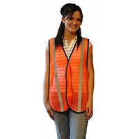 Orange Safety Vest W/ Reflective Strip
