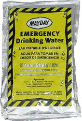 Emergency drinking water- Case of 100 bags