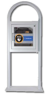 AED Floor Stand Cabinet With Alarm