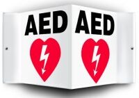 D AED Wall sign