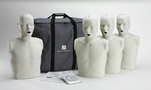 Adult/Child CPR-AED 4-Pack Training Manikins (w/ CPR Monitor)