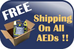 Free Shipping on All of our AEDs!!