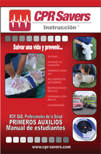 cpr savers spanish training book