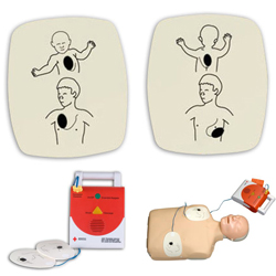 American Red Cross Trainer Adult Replacement Pads Package of 6