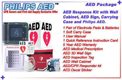 AED Package includes: AED, 1 pair of adult electrode pads