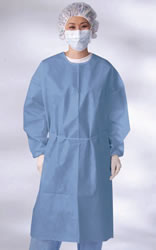 Isolation Gowns - Polyethylene - Coated Polypropylene Gowns
